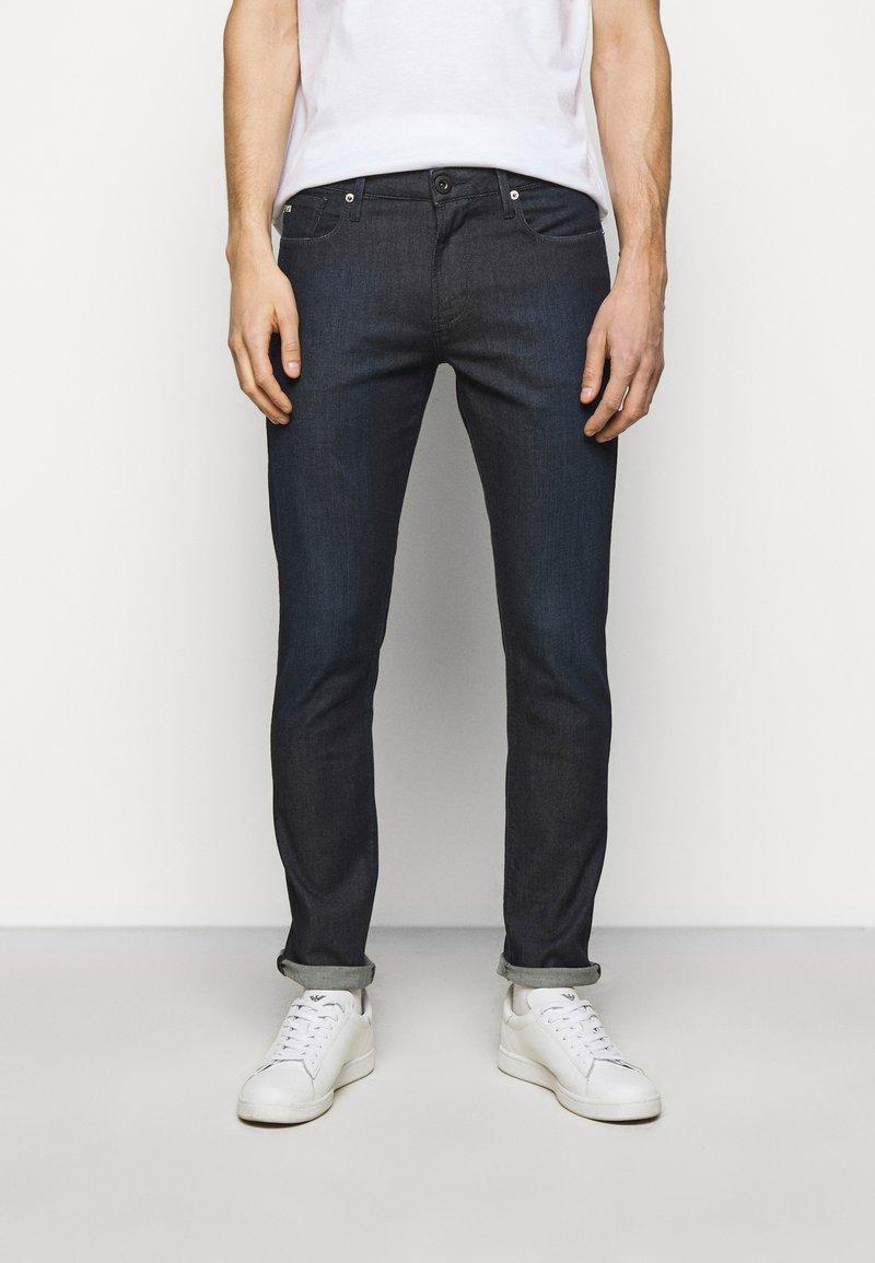 Emporio Armani - POCKETS PANT - Slim fit jeans - dark blue denim