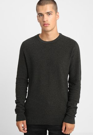 JJESTRUCTURE CREW NECK  - Stickad tröja - deep depths/black