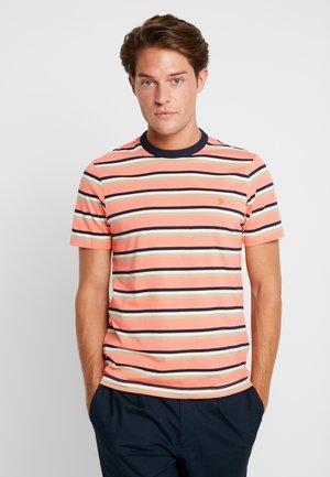 PIPER STRIPE TEE - Print T-shirt - peach