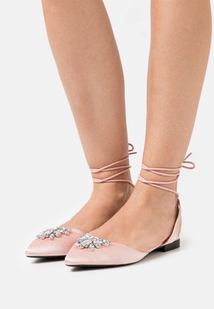 INDULGE - Ankle strap ballet pumps - pink