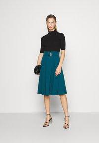 WAL G. - EMERSON MIDI SKIRT - A-line skirt - dark teal blue - 1