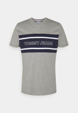 STRIPE COLORBLOCK TEE - T-Shirt print - light grey heather/multi