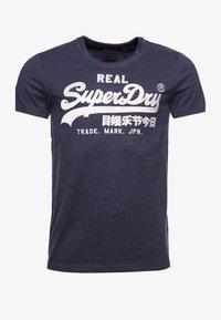 Superdry - Print T-shirt - princedom blue marl - 0