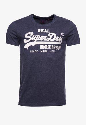 Print T-shirt - princedom blue marl