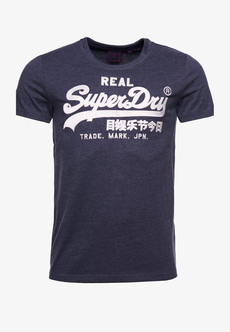 Superdry - Print T-shirt - princedom blue marl