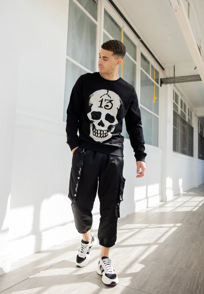 Ed Hardy - TIGER-BELLOWS PANT - Cargo trousers - black