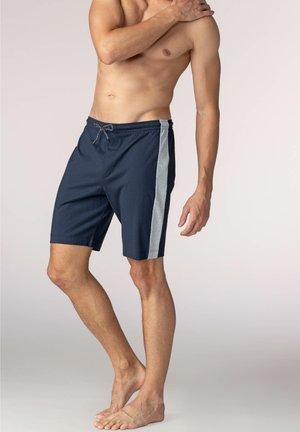 HOSE AUS BAUMWOLLE MIT TASCHE - Pyjama bottoms - yacht blue