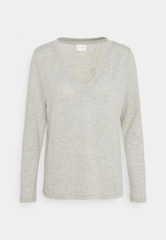 VILUNE NECK - Pullover - super light grey melange