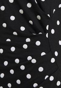 Anna Field - Vestido de tubo - black/white - 2