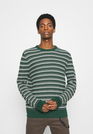 STRIPED CREW - Jumper - green