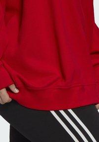 adidas Originals - ADICOLOR ORIGINALS SLIM PULLOVER - Sweatshirt - red - 6