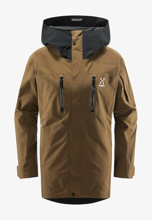 ELATION GTX JACKET  - Snowboard jacket - teak brown/true black