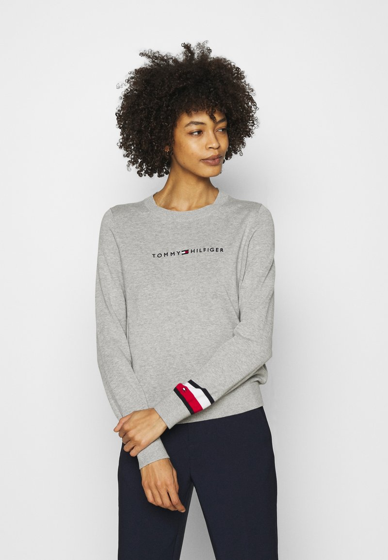 Tommy Hilfiger - ESSENTIAL - Svetr - light grey heather
