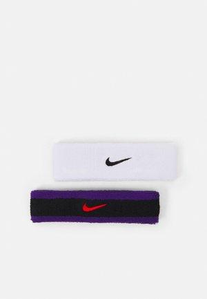 HEADBAND 2 PACK UNISEX - Sweatband - black/court purple/chile red/white