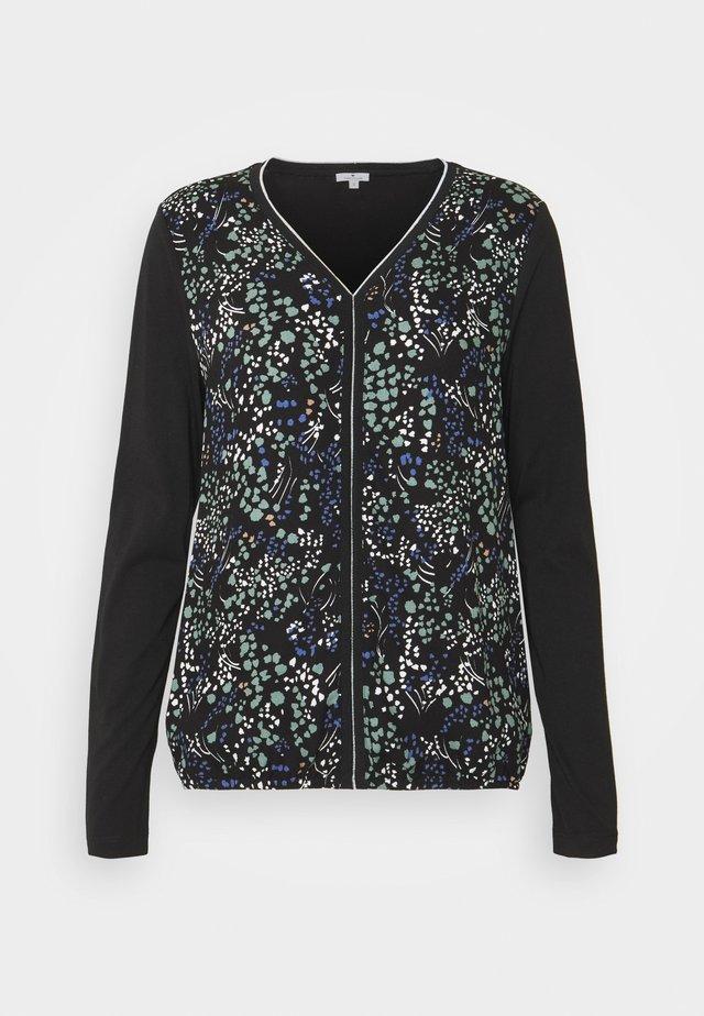 FABRIC MIX - Bluzka z długim rękawem - black