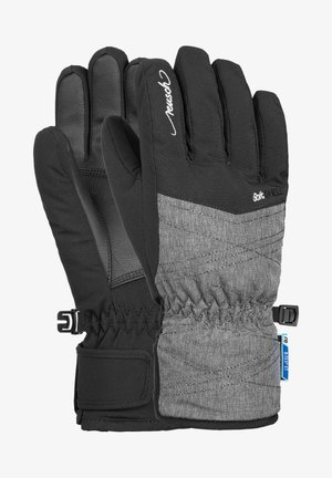 AIMÉE JUNIOR - Gloves - black grey melange silver