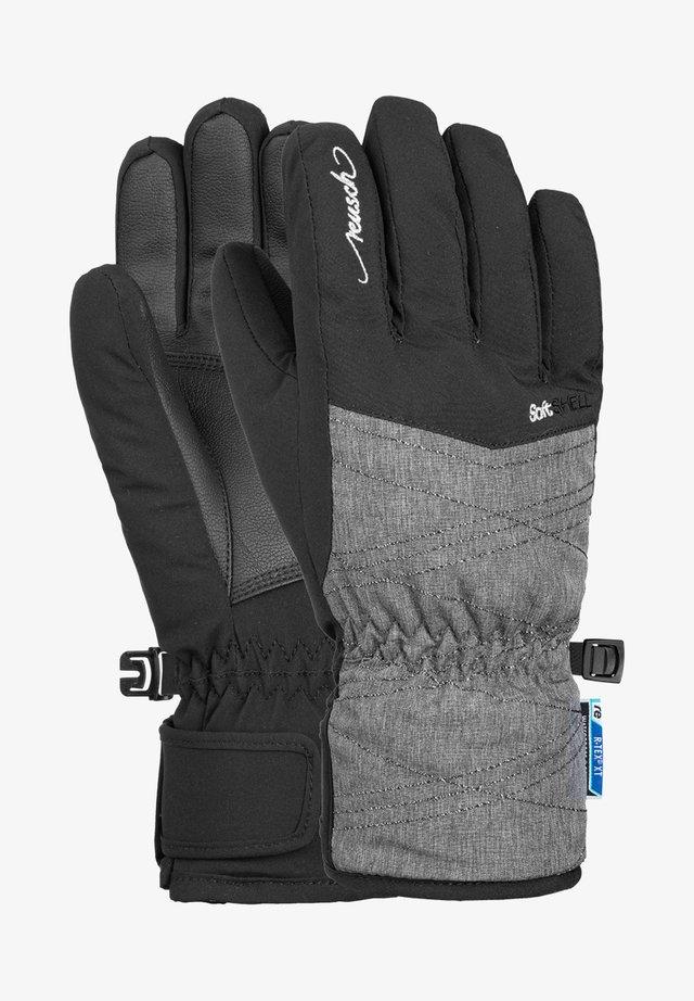 AIMÉE JUNIOR - Gloves - black grey melange silver