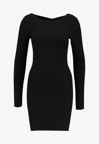 ONLY - ONLNEELA DRESS - Strikket kjole - black - 4