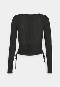New Look - CARLY RUCHED SIDE - Langærmede T-shirts - black - 1