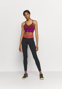 Nike Performance - ONE LUXE - Tights - black/canyon rust - 1