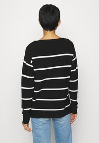 Kaffe - KAMARIA - Jumper - black/chalk - 2