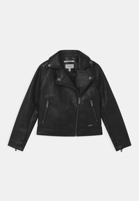 LENA - Faux leather jacket - black