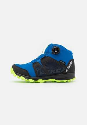 TERREX BOA MID R.RDY UNISEX - Hiking shoes - glow blue/footwear white/signal green