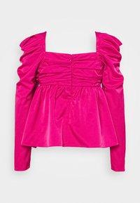 Who What Wear - EMPIRE RUCHED - Blus - magenta - 1