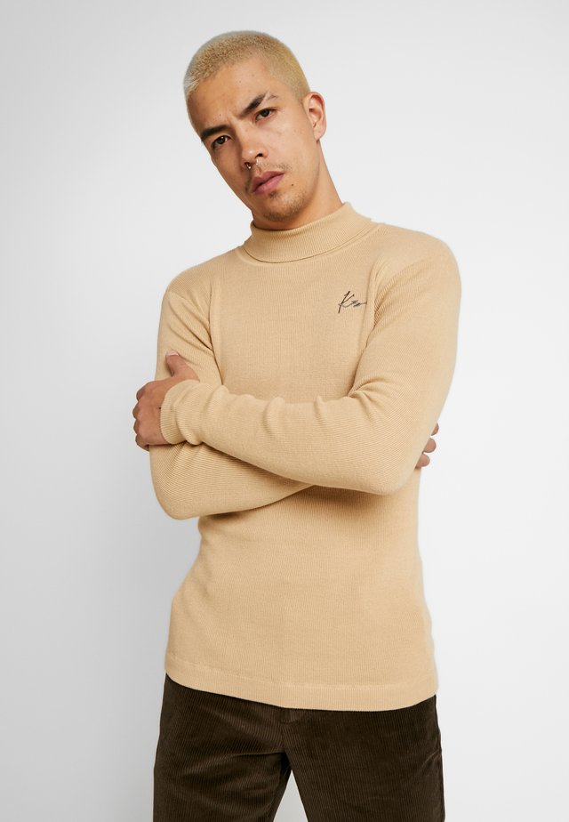 ROLL NECK JUMPER - Jumper - beige