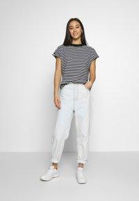 Weekday - PRIME STRIPE - Print T-shirt - black/white - 1