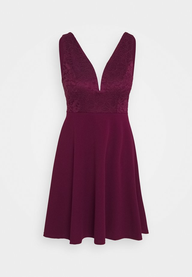 CHRISTINA SKATER DRESS - Day dress - plum