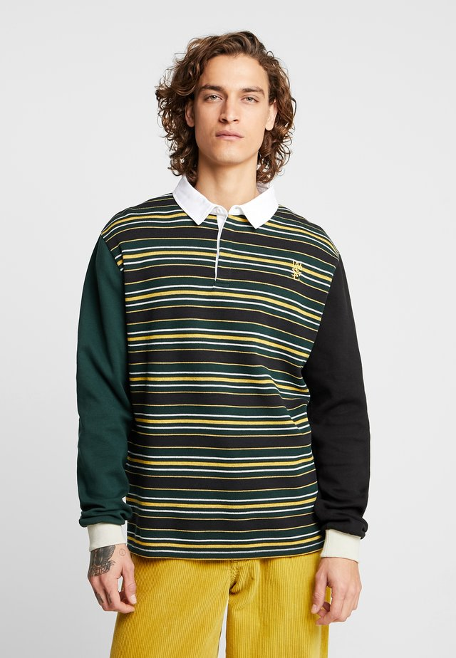 CONOR STRIPED RUGBY - Polo - scarab green