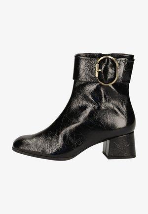 Cowboy/biker ankle boot - schwarz 0100