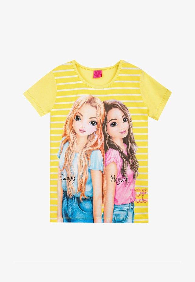 TOP MODEL - Print T-shirt - yellow iris