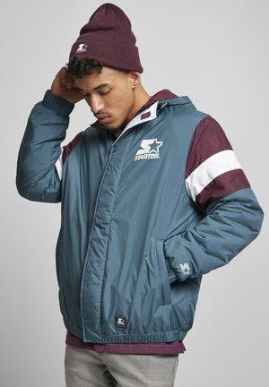 HERREN STARTER SUPPORTER JACKET - Winter jacket - teal/darkviolet/white