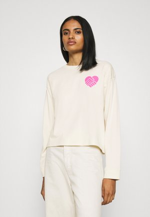 GRAPHIC LONG SLEEVE  - Long sleeved top - neutrals