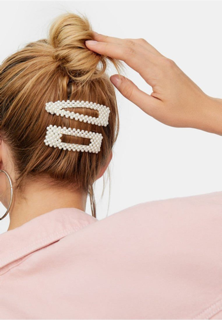 Stradivarius - 2 SET  - Hair styling accessory - white