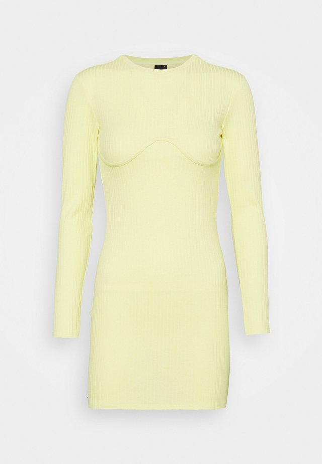 MARIA DRESS - Vestido de punto - mellow yellow