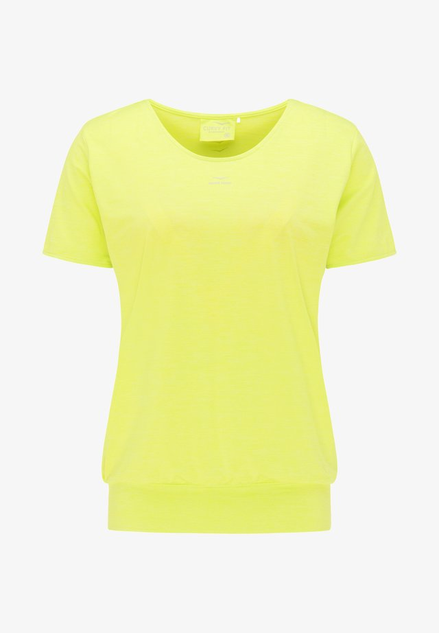 Print T-shirt - lime punch