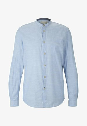 Shirt - light blue white chambray