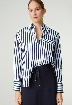 Koszula - navy-blau/weiß