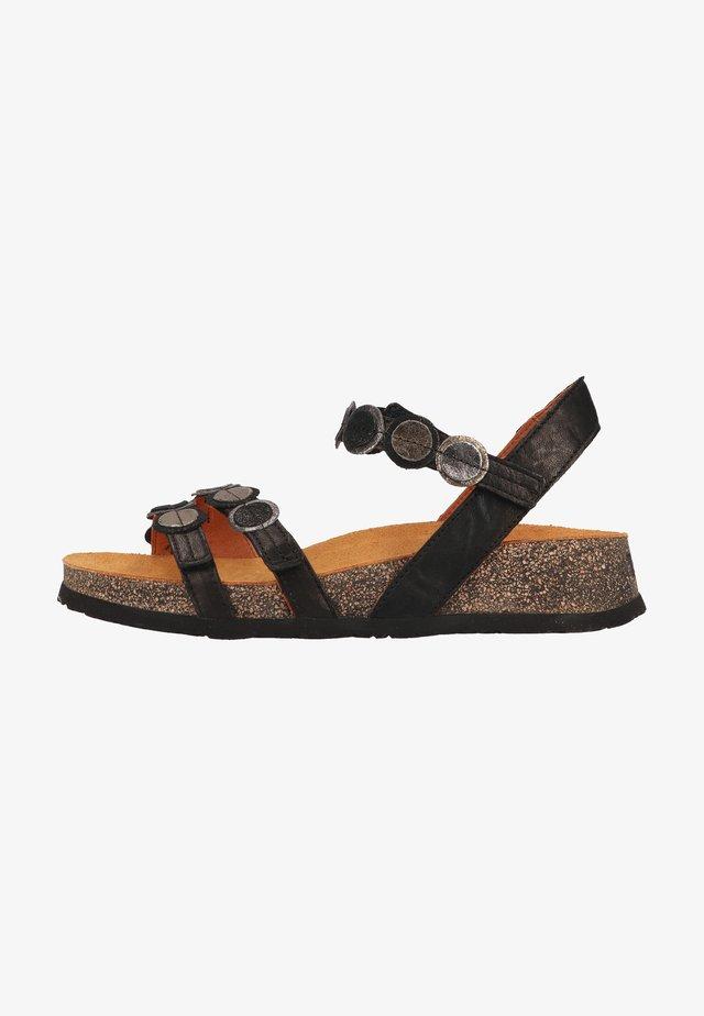Sandalen met sleehak - sz/kombi