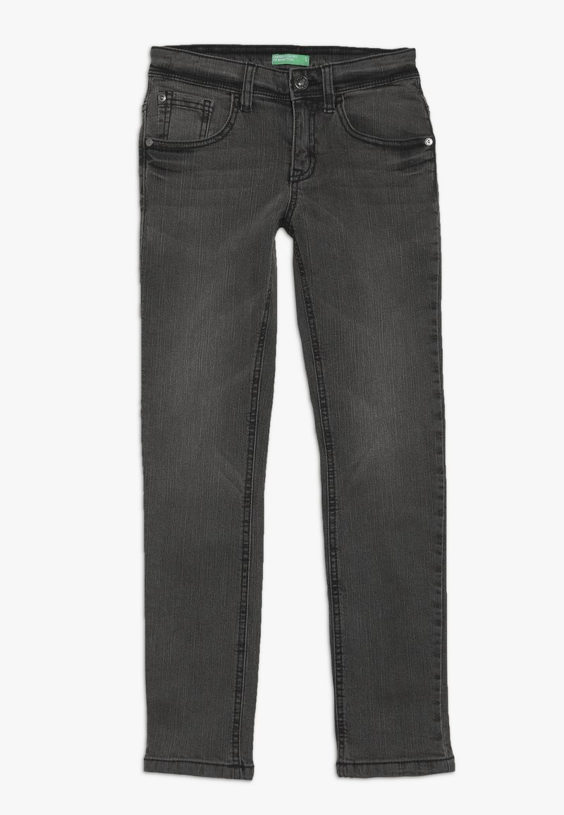 Benetton - TROUSERS - Jeansy Slim Fit - dark grey