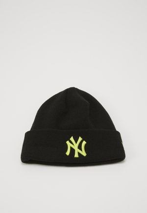 KIDS LEAGUE ESSENTIAL CUFF - Beanie - black/yellow