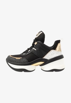 OLYMPIA TRAINER - Sneakers laag - black/pale gold