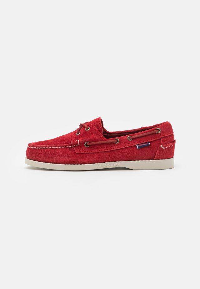 DOCKSIDES PORTLAND - Boat shoes - red