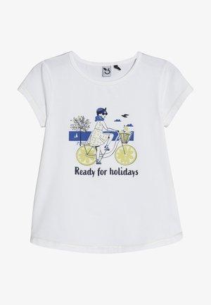 TEE - T-shirt med print - white
