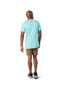 Smartwool - T-shirt print - iceberg blue - 1