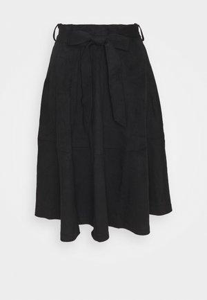 VIDARLEY MIDI SKIRT - A-line skirt - black