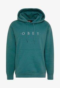 Obey Clothing - NOUVELLE HOOD - Luvtröja - eucalyptus - 4